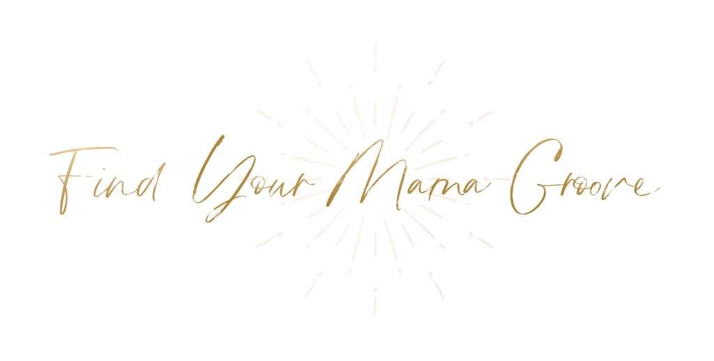 joanna hunt find your mama groove logo with starburst