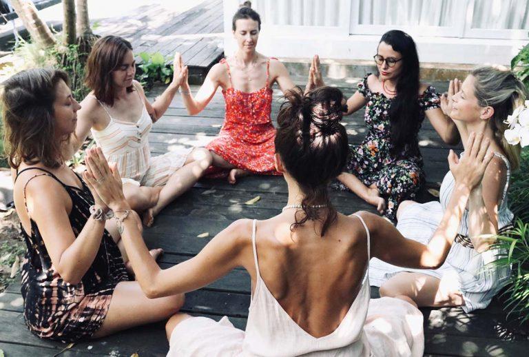 joanna hunt facilitating a women circle